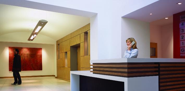 Hotel Reception Lighting Installation
